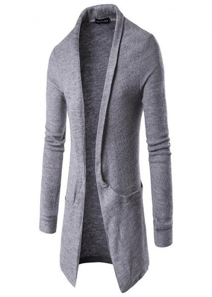 Quality Long Shawl Collar Mens Knit Sweater Cable Cozy Knitted Cardigan Sweater for sale