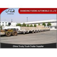 China 100 - 250 Tons Heavy Equipment Lowboy Trailer , Multi Axles Low Bed Trailer wholesale
