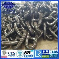 China Up to 182mm AM3 Black Painted ISO 1704 Stud Link Anchor Chain with KR LR BV NK ABS DNV certification wholesale