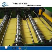 China 0.3-0.7mm Color Coated Metal Roof Panle Roll Forming Machine With Automatic PLC Control wholesale