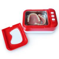 China Portable Small Ultrasonic Cleaner , Red Ultrasonic Dental Cleaner CE Rohs wholesale