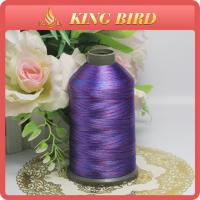 China Purple Space Dyed Polyester Machine Embroidery Thread for Home Textile wholesale
