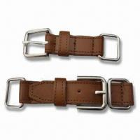 China Hand-sewed PU Belt with Metal Buckle, Oeko-Tek Standard wholesale