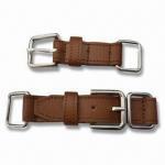 China Hand-sewed PU Belt with Metal Buckle, Oeko-Tek Standard wholesale
