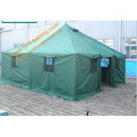 China UV Resistance Military Canvas Tents Pole-style Galvanized Steel Waterproof  Military  Camping Tent wholesale