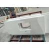 China White Calacatta calacatta quartz slab stone , calacatta quartz countertops wholesale
