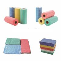China Dry Flat Spunlace Nonwoven Wipes Eco - Friendly For   Food Industry on sale