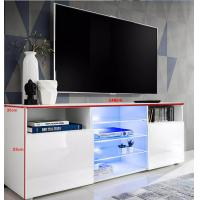 TV stand Cabinet and open storage options Chipboard with melamine finish Oak and White