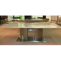China Selected Italy White Carrara White Marble Top Dining Table / Dining Room Furniture wholesale