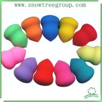 China Colorful cosmetic non latex makeup power puff wholesale
