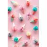 China Baby Party Decoration Kids Paper Lanterns 40cm Ice Cream Honeycomb wholesale
