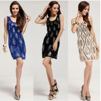 China Hand Bead Glitter Sequins Pattern Slim Party Cocktail Dresses Casual Couture wholesale