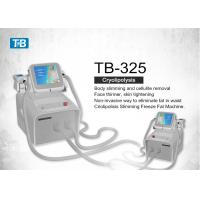 China 2 Handles Vacuum Cryolipolysis Weight Loss Equipment / Fat Reduction Machine wholesale