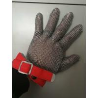 China Stainless Steel Mesh Safety Gloves , Kitchen Safety Meat Slicer Gloves wholesale