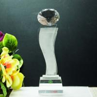 China star shaped crystal tall trophy for new star award wholesale