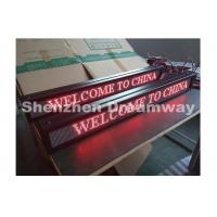 China 4 mm Pixel Pitch Indoor Single Red LED Moving Message Display 768mm x 64 mm on sale