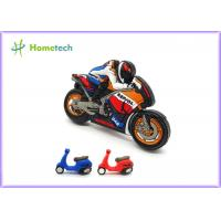 China Small Size Promotion Motorcycle Usb Flash Drive , Moto Car Soft Plastic Usb Drives / U Disk wholesale