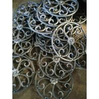 China Wrought Iron Elements/ Ornaments/parts  for balusters and gates decorative -- Cast iron grapes leaves wholesale