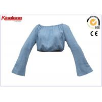 China Washed Embroidery Girls Type Cotton Denim Work Clothes Shirt Long Arm Style wholesale