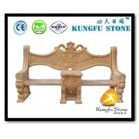 China Xiamen Kungfu Stone Ltd supply Yellow Marble Garden Bench  In High quality and cheap price wholesale