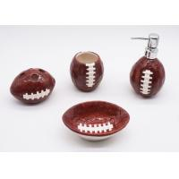 China Ceramic Football Bathroom Sets , Rugby Sanitary Ware Bathroom Accessories Set wholesale