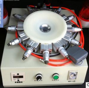 China B22 Bulb Cap Crimping Nailing Machine With 12 Needles Lamp Cap Punching Tool on sale