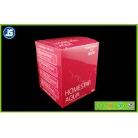China PVC Folding Color Carton , PVC Plastic Blister Packaging Red For Cosmetics wholesale