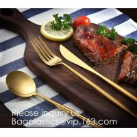 China Cutlery Purple Flatware Tianjin Stainless Steel Cutlery,Elegant Design Stainless Steel Flatware Copper Coating Rose Gold wholesale