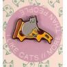 China 柔らかいエナメルとのかわいいマウスおよび犬のエナメルの折りえりピンBalckのニッケル メッキ wholesale