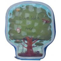 China Children Drawing 2 Pocket Filled Pencil Case Lively Tree Shaped 22.7×19.5×4.4 cm on sale