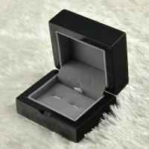 Custom Deluxe MDF Jewelry Wooden Box Glossy Black For Cufflinks Storaging