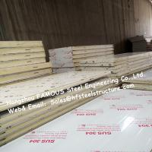 China Sliding Door / Swing Door PU Cold Room Panel Thickness 100mm For Walk In Freezer wholesale