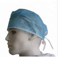 Pp / Sms Material Disposable Head Cap Hospital Head Cover ISO13485 / FDA Approval