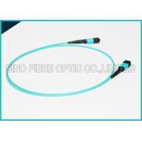 Buy cheap 100Gbps 24 Cores MPO Fiber Optic Cable OM4 Non-pinned Fibre Optical Plenum Jacket Jumper from wholesalers