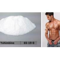 High Purity Yohimbine HCL / Male Enlargement Pills For Sex Enhance , CAS 65-19-0