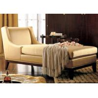 China Luxury Wooden Chaise Lounge Chairs With Hardwood Frame / Fabric Upholstered wholesale