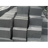 China Natural Black Slate Stone Tile , Split slate tiles for floor 150*600mm 180*350mm wholesale