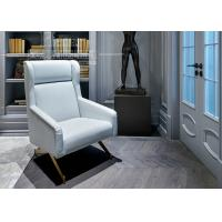 China Hotel Luxury Living Room Furniture / White Leather Sofa with Stainless Steel Leg wholesale