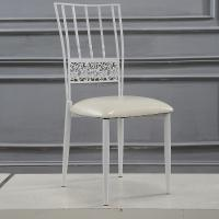 China Steel Event Rent Wedding Dining Restaurant Cafe Chairs in White wholesale