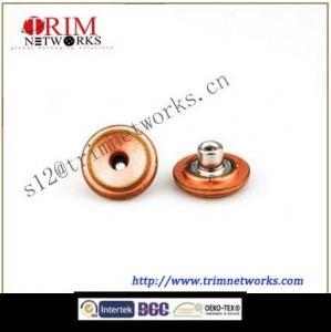 China Alloy jeans 19.5MM HVB Copper-anti brass depression fashion garment accessories button on sale