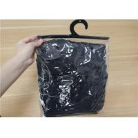 China Garment Packing Clear PVC Packaging Bags With Plastic Button and Hook wholesale