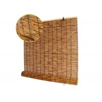 China Thermal Insulation Manual Natural Reed Blinds Custom Window Bamboo Mat Blinds on sale