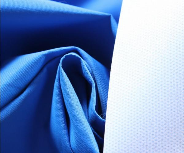 Quality Blue 196T Polyester Taslan Fabric 75 * 160D , Soft Rayon Spandex Knit Fabric for sale