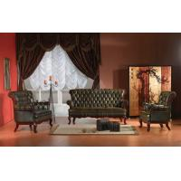 China Classical antique Europe style chesterfield leather sofa set wholesale