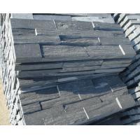 China Good selling natural stacked stone in black color wholesale