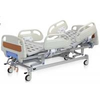 China Reclining Hospital Bed Adjustable Mechanical Hospital Bed 3 Functions ABS Hand Rail Guard wholesale