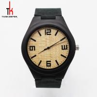 China Men Minimalist Leather Watch / Black Leather Band Watches Create Your Own Brand on sale