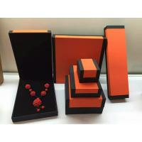 Buy cheap Fashion Orange Paper Plastic Hinged Jewelry Gift Boxes Recyclable from wholesalers