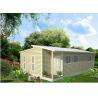 Prefabricated Light Steel Frame Australian Granny Flats , One Slope Roof House