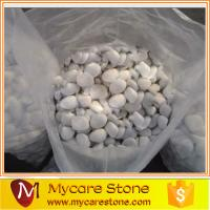 China Snow White pebble for Garden decoration wholesale